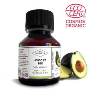 huile vegetale d'avocat bio - My Cosmetik