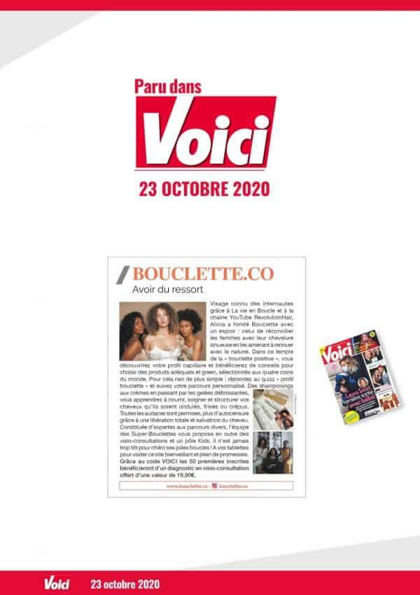 Voici magazine Bouclette.co presse